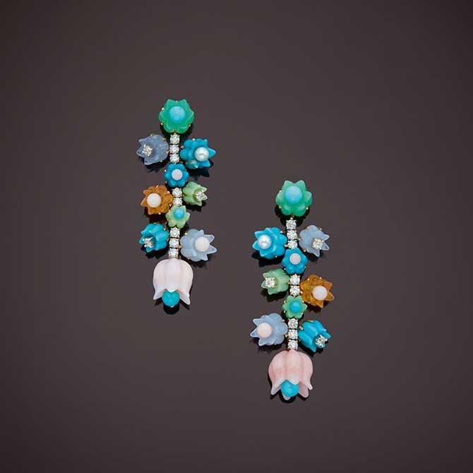 Irene Neuwirth flower bud earrings