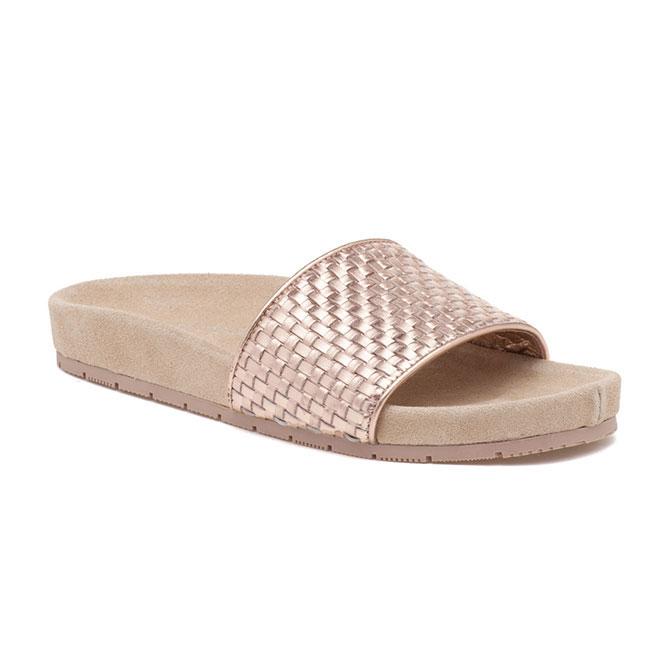 Sandale J Slides en or rose