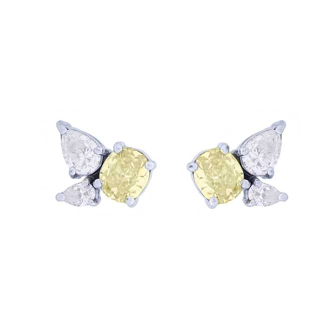 Leila Assam Amalfi diamond earrings