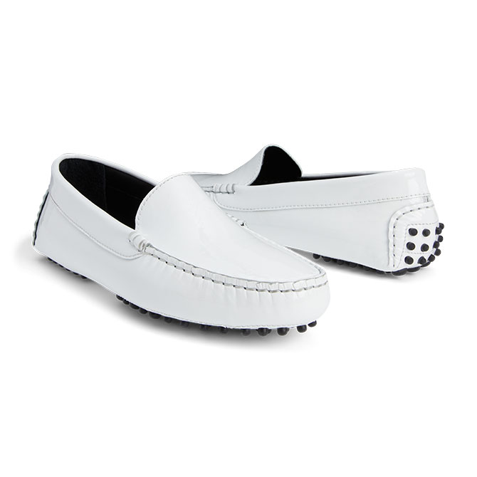 M Gemi white loafers