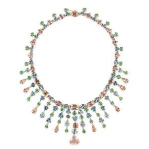 Tresor Dazzle multicolor sapphire necklace