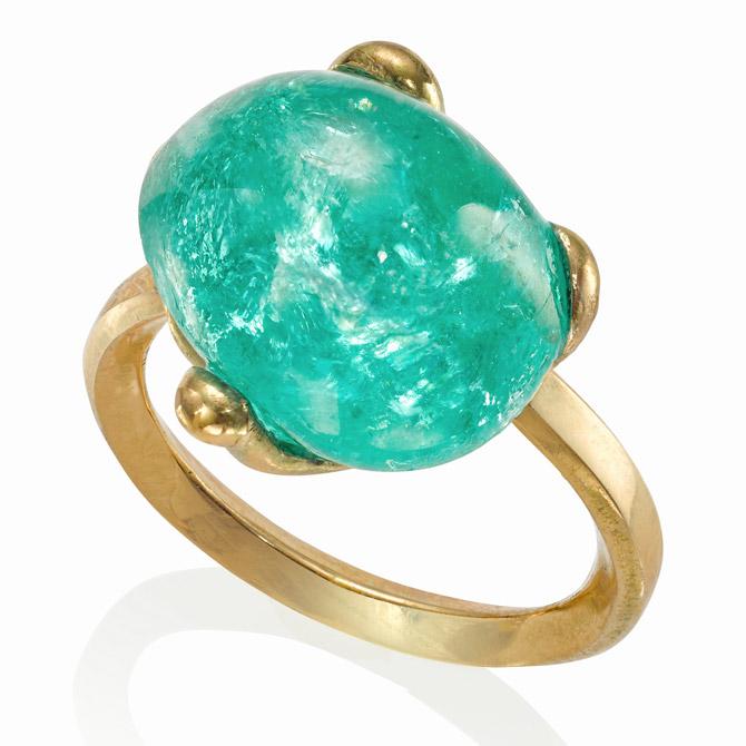 The Rock Hound x Muzo emerald ring