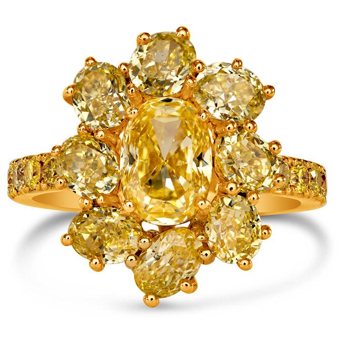 VTse yellow diamond ring