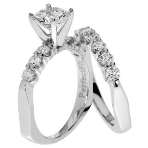 Just Perfect diamond wedding set