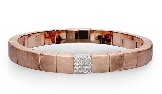 Roberto Demeglio 18k rose gold Scacco bracelet