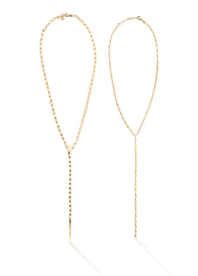 Royal Chain Mirror Y and lariat necklaces