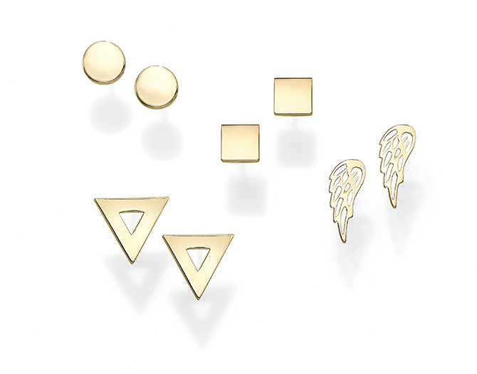 Royal Chain stud earrings