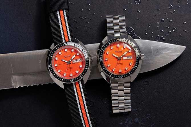 Sea Time orange Bulova watches