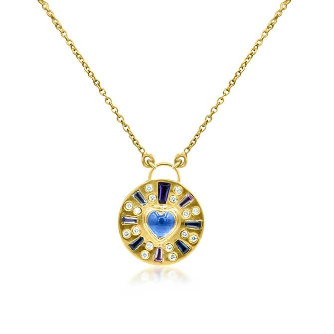 Theresa Kaz Carved Heart Burst necklace