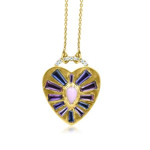 Theresa Kaz Heart Burst Necklace