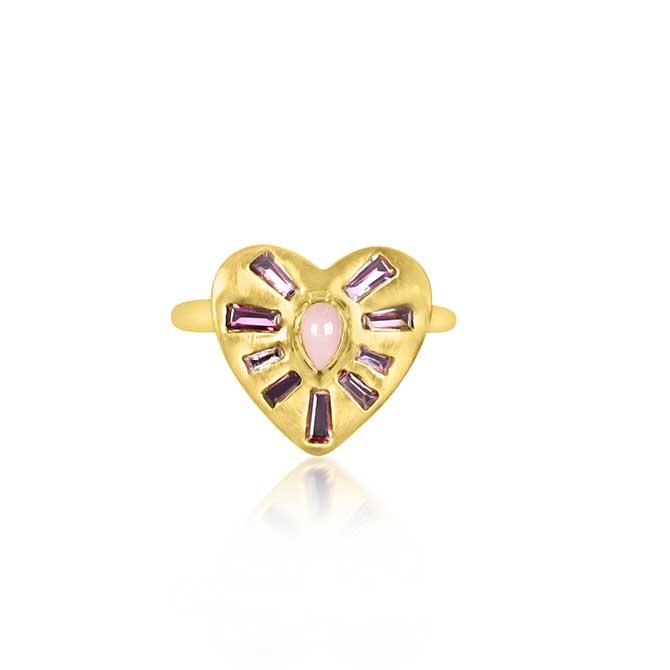 Theresa Kaz Heart Burst ring