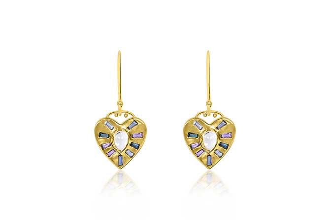 Theresa Kaz Heart Burst earrings