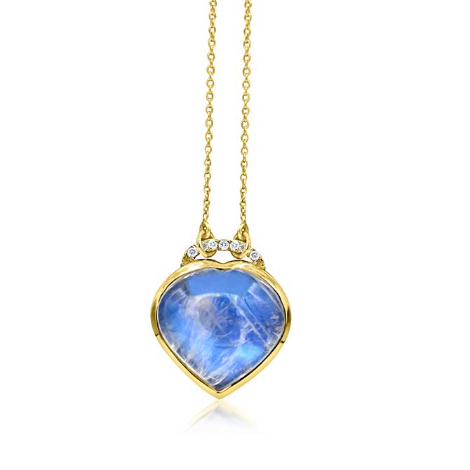 Theresa Kaz carved moonstone heart necklace