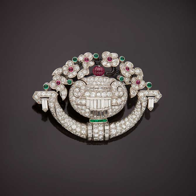 Tiffany and Co floral brooch