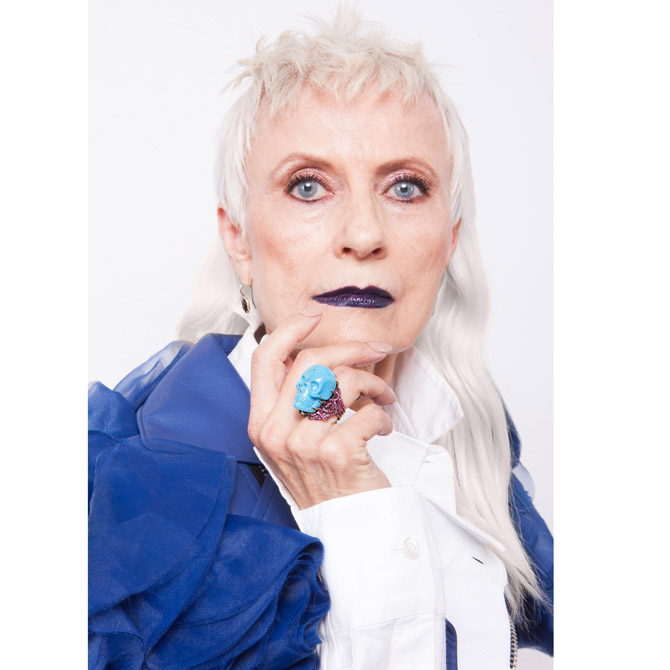 Judith Boyd in Wendy Brandes turquoise skull ring