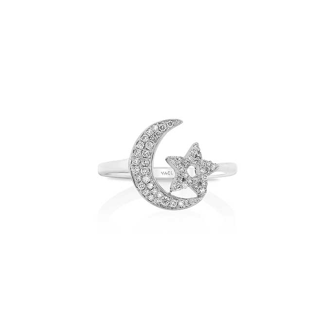 Yael Designs moon and star ring
