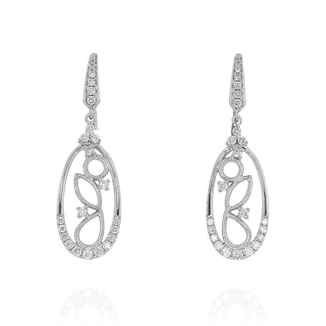 Yael Designs openwork drop earrings