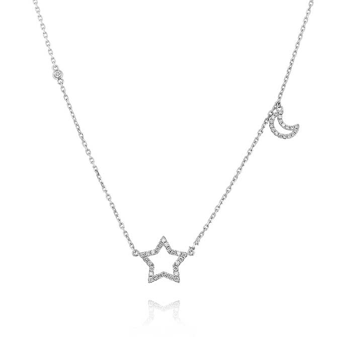 Yael Designs star and moon necklace