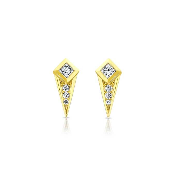 Ziba Zidehsarai diamond studs