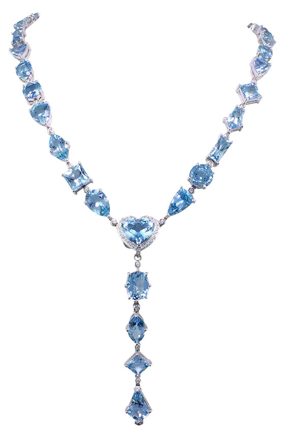 bellarri aquamarine Y necklace