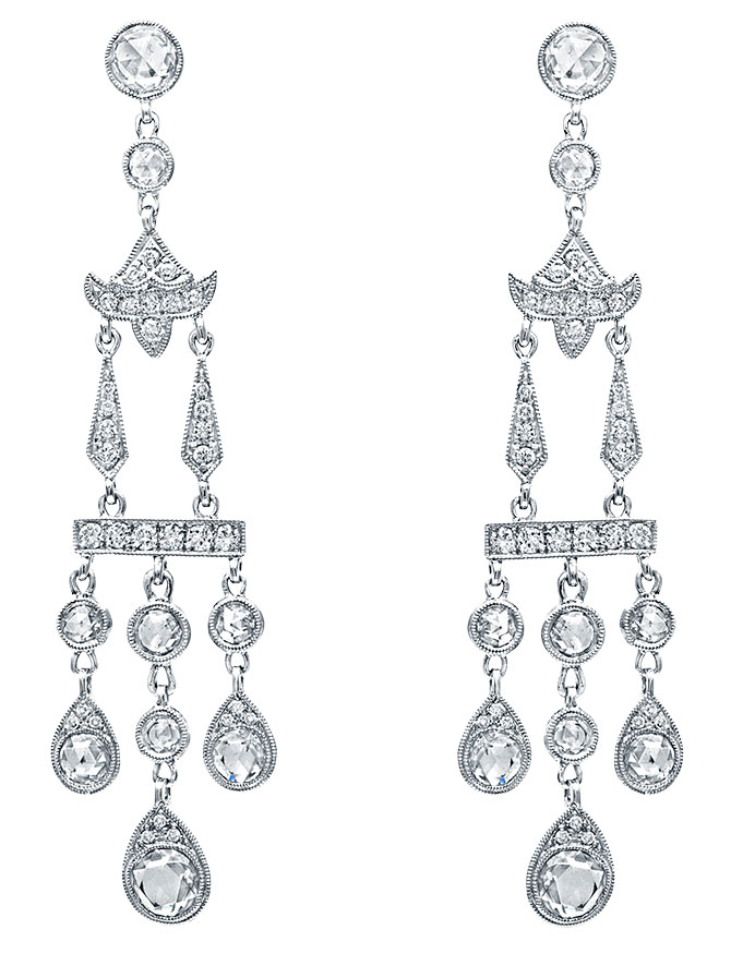beverley k diamond chandelier earrings