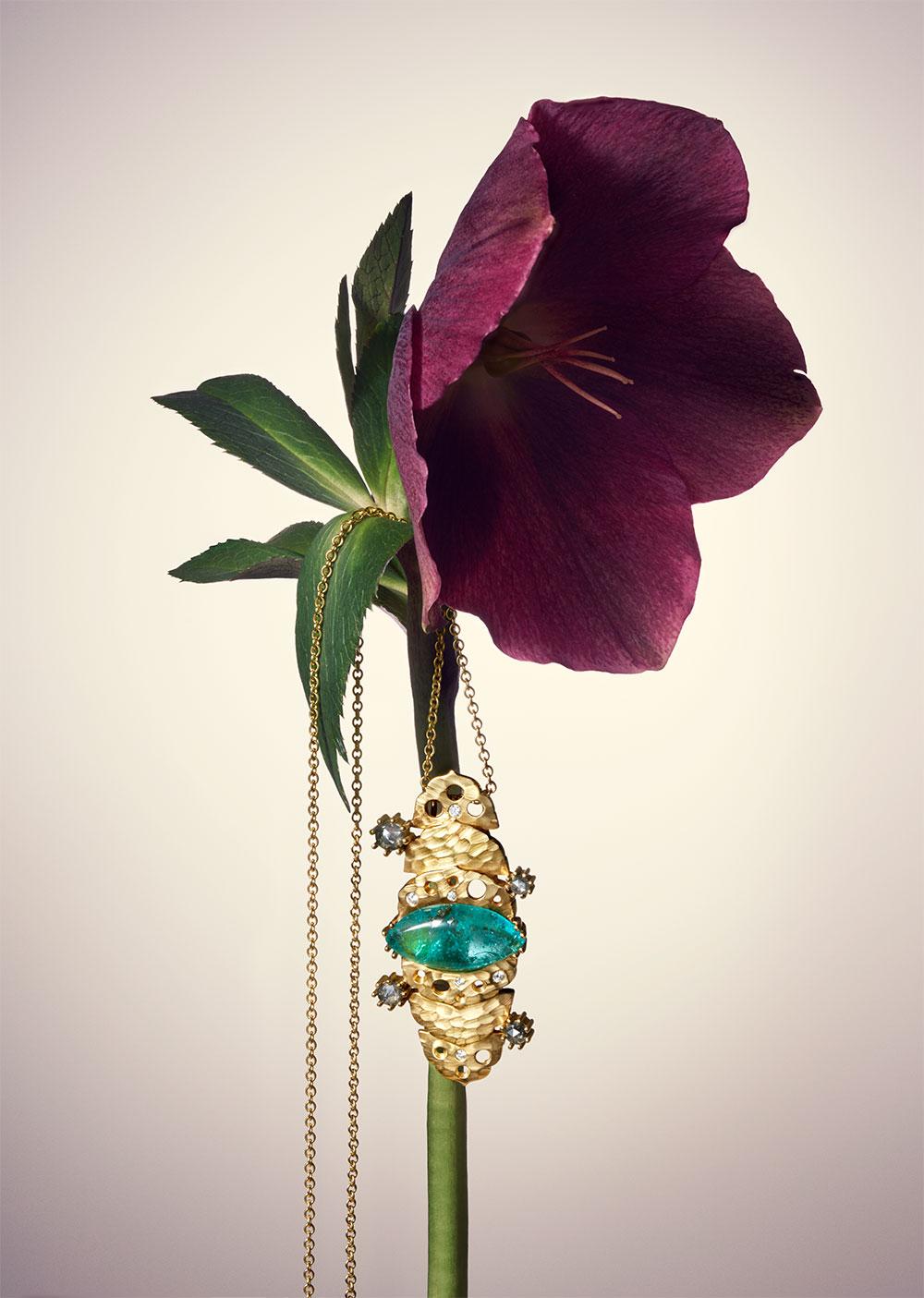 dana bronfman muzo emerald pendant