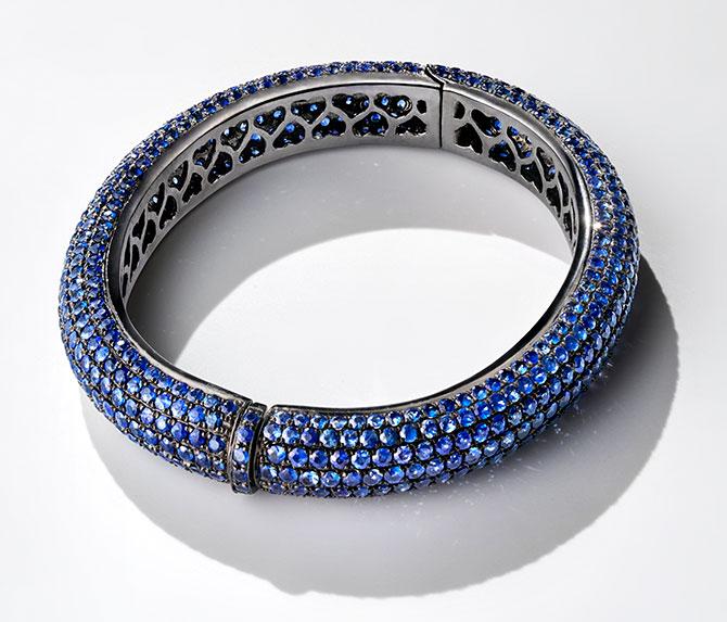 dilamani blue sapphire bracelet