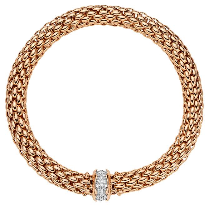 fope rose gold eka bracelet