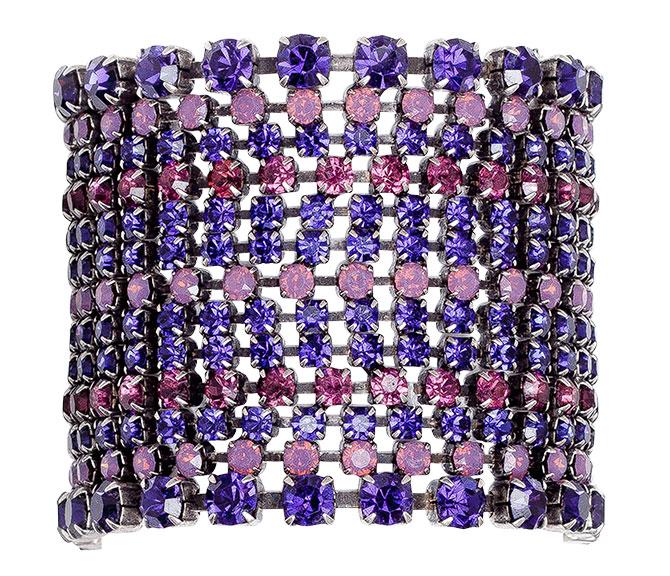frangos jewelry purple swarovski crystal bracelet