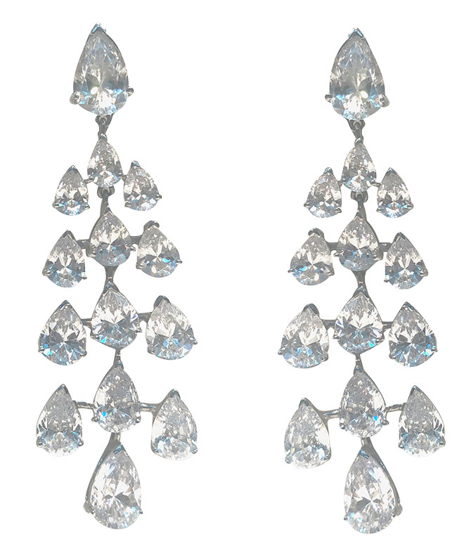 gismondi diamond chandelier earrings