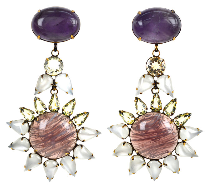 iradj moini amethyst crystal earrings