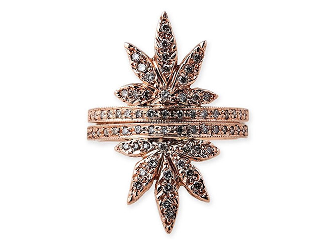 jacquie aiche sweet leaf stack rings