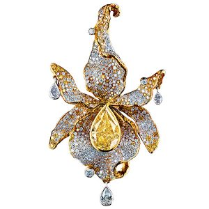 jewellery theatre orchid diamond pendant