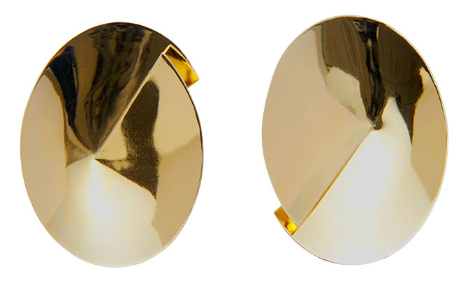 lady grey gold earrings