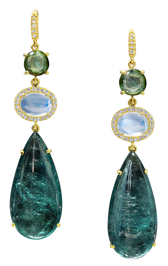 lauren k moonstone tourmaline earrings