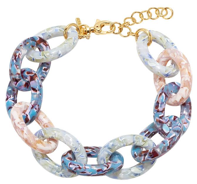 lele sadoughi acetate chain necklace