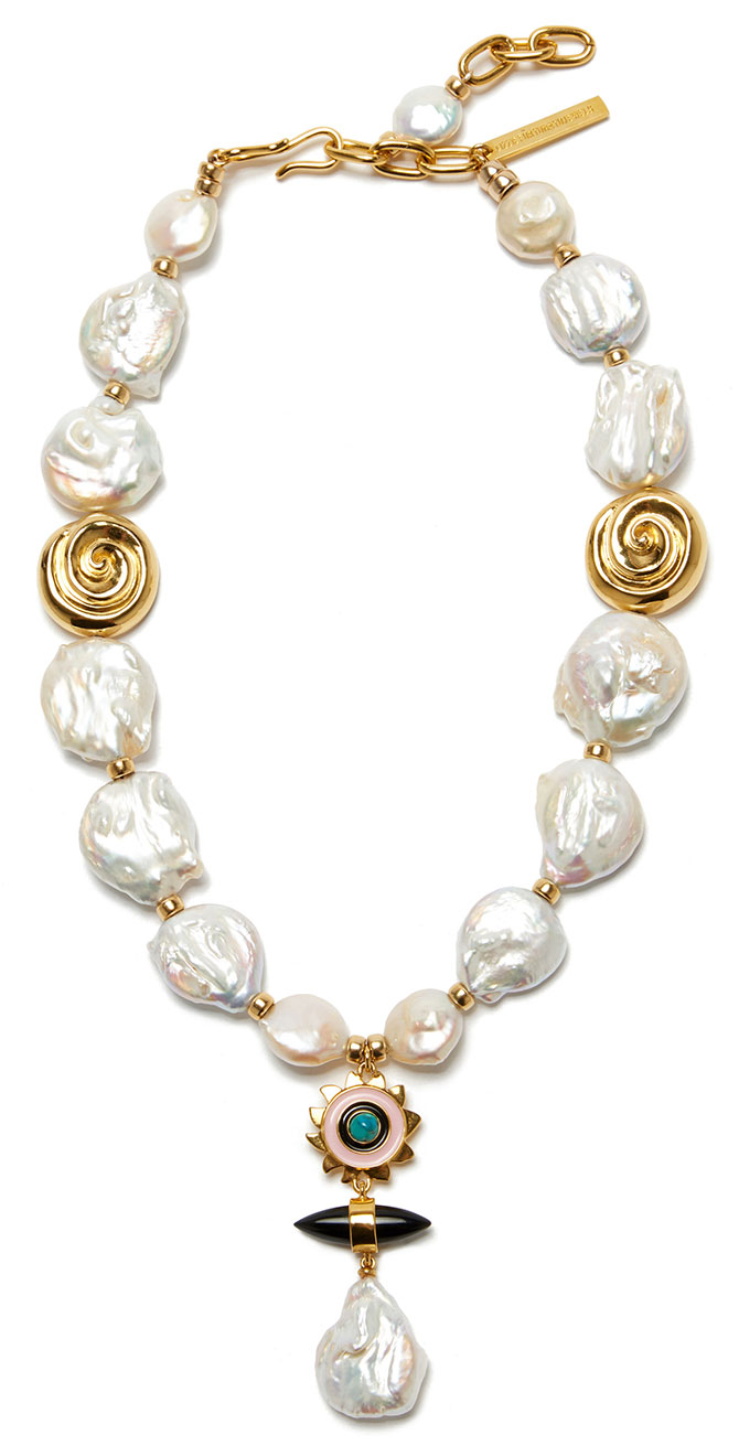 lizzie fortunato apollo pearl necklace