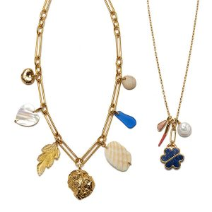 lizzie fortunato charm necklaces