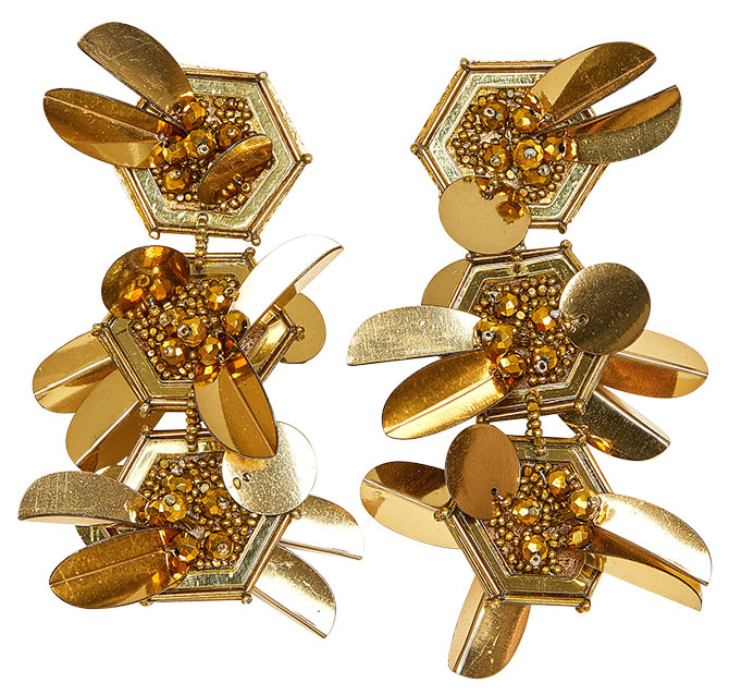 mignonne gavigan gold bead sequin earrings