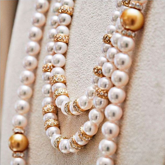 mikimoto akoya and golden south sea strands