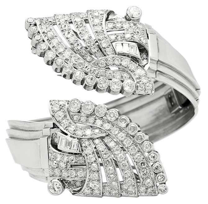 mindi mond diamond clip bracelet