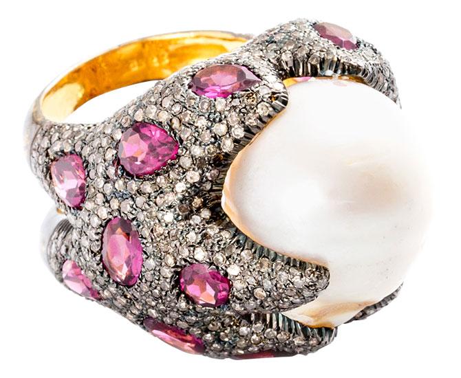 modern moghul baroque ring