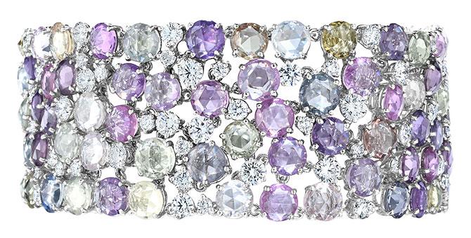 oscar heyman multicolor sapphire bracelet