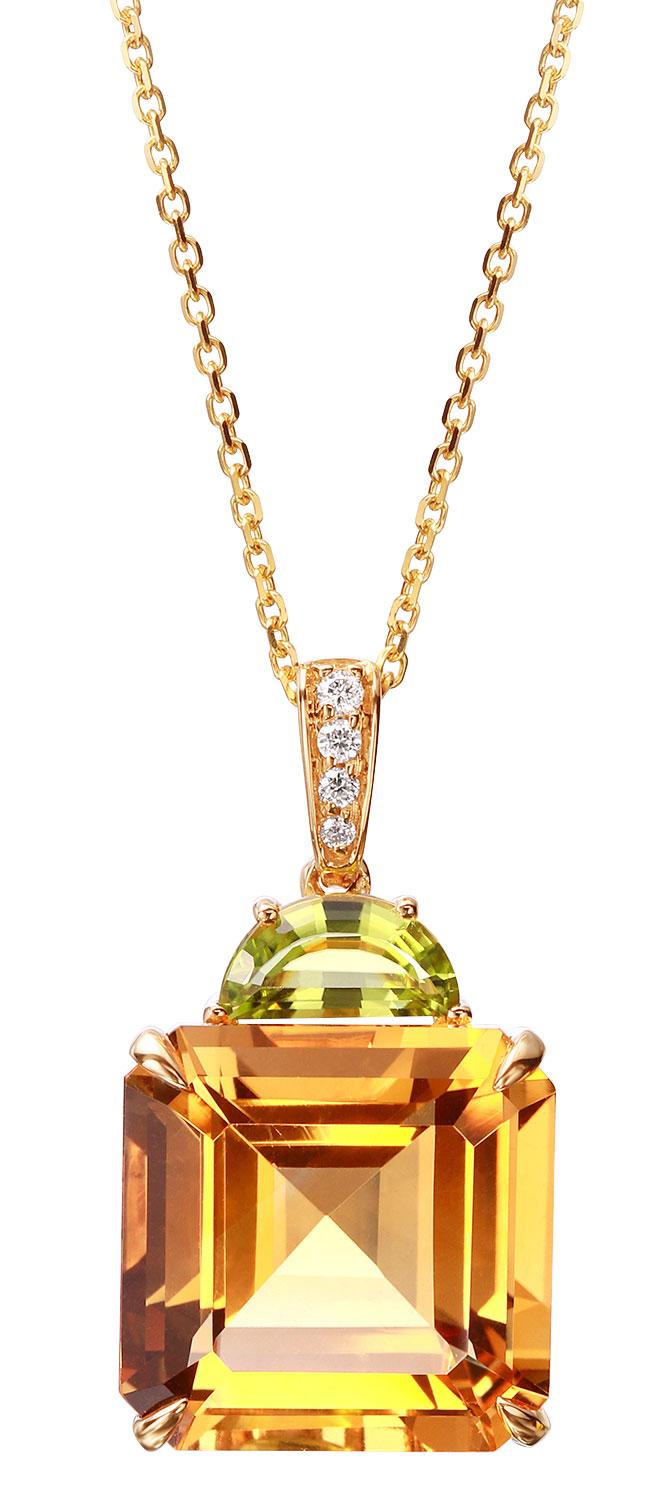 pejay creations citrine peridot pendant