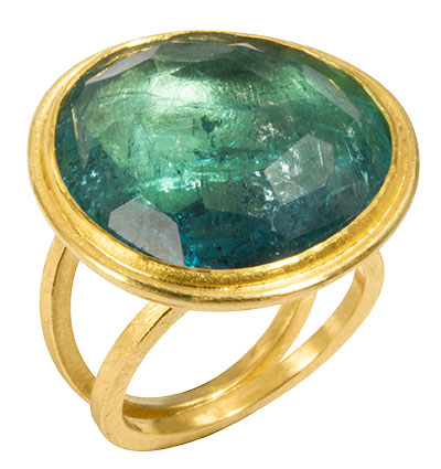 petra class green tourmaline ring