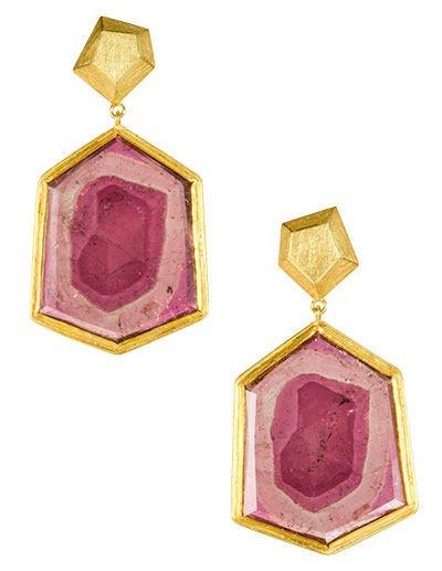petra class pink tourmaline earrings