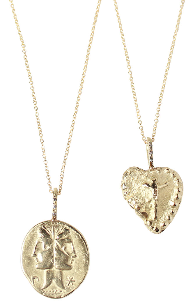 robin haley gold pendants