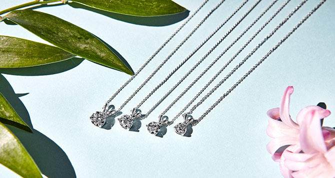 spence artisan created diamond pendants