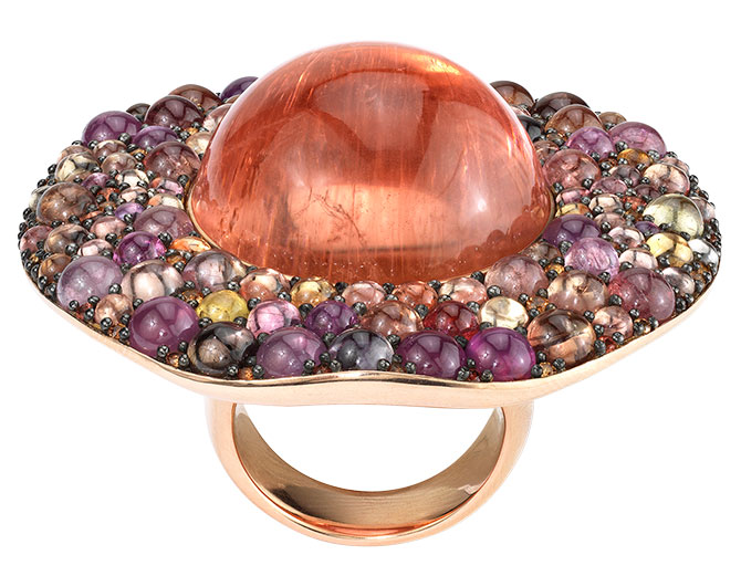 vram multicolored sapphire ring