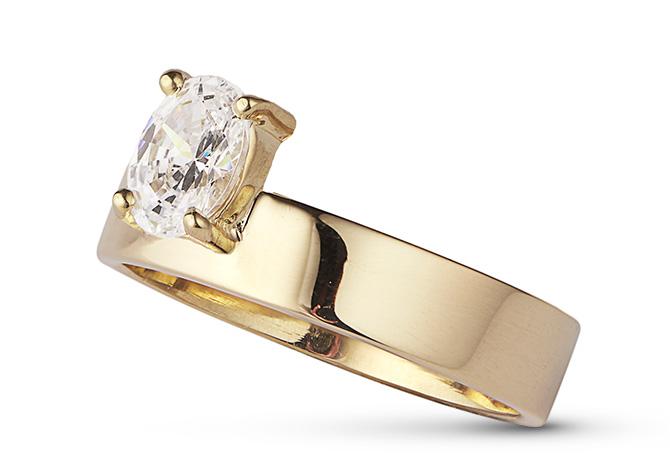 wwake monolith diamond ring